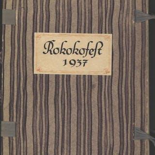 Private Festschrift und Einladung zum Rokoko-Fest 1937