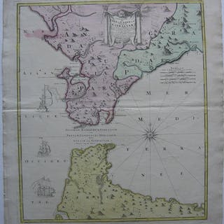 """""""Carte nouvelle de L`Isle de Cadix & du Detroit de Gibraltar"""""""