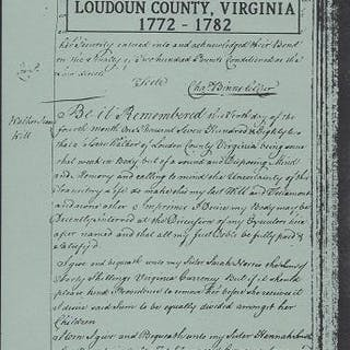Will Abstracts of Loudoun County