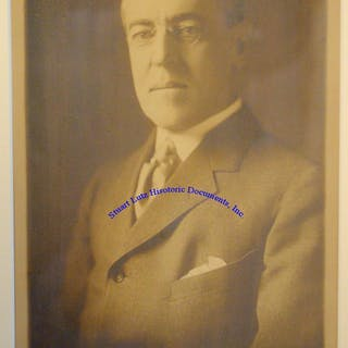 President Wilson Signs A Photograph While In Office WOODROW WILSON