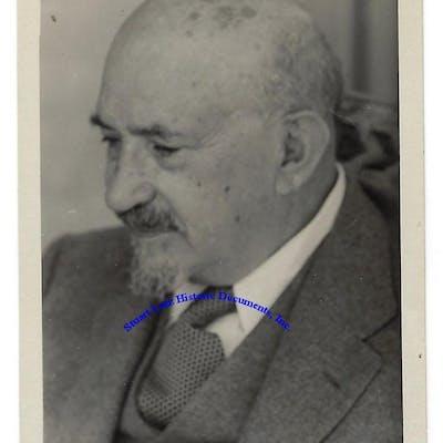 A Signed Photograph Of Israel's First President Chaim Weizmann CHAIM WEIZMANN