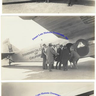 Original Photographs Of The Ford Trimotor Plane Owned By...