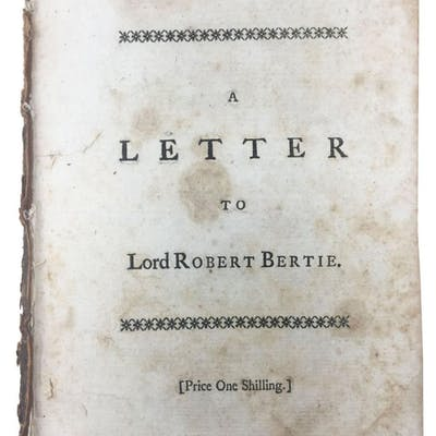 A LETTER To LORD ROBERT BERTIE