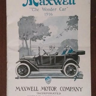 "MAXWELL ""The Wonder Car"" 1916   Automobiles,Ephemera"