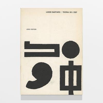 Teoria de le'Est Saffaro, Lucio 1960s,Artists' books,Concrete poetry