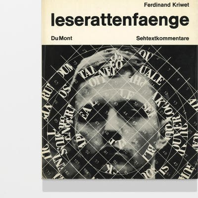 leserattenfaenge Kriwet, Ferdinand 1960s,Artists' books,Concrete poetry