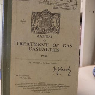 Manual of Treatment of Gas Casualties Great Britain; War...