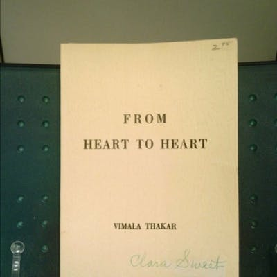 From Heart to Heart Thakar, Vimala