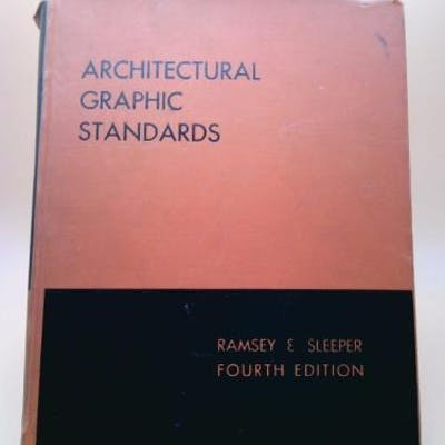 Architectural Graphic Standards 4th Edition Hardcover
