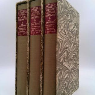 The Life of Samuel Johnson, Ll.D. In Three Volumes James Boswell
