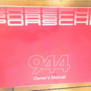 1986 Porsche 944 Owners Manual Porsche