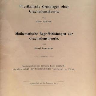 Physikalischer Grundlagen einer Gravitationstheorie [and] MARCEL GROSSMANN