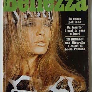BELLEZZA RIVISTA MODA AGOSTO 1966 CON LITOGRAFIA DI LUCIO FONTANA