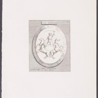 Design - Solis Quadrigae Michaelis Angeli Causei Antique Print,Architecture,Art