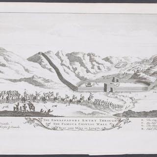 Great Wall of China John Harris Americana,Antique Print,Map