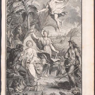 Fables of History Henri Abraham Chatelain Antique Print,Map,Travel
