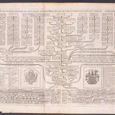 Geneaology of the Original Royal Families of Denmark...