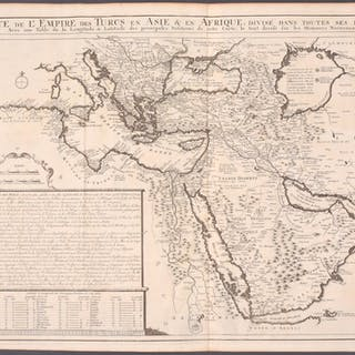 Turkish Empire in Asia & Africa Henri Abraham Chatelain Antique Print,Map,Travel