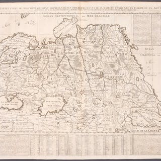 Muscovy, China - Europe, Asia Henri Abraham Chatelain Antique Print,Map,Travel