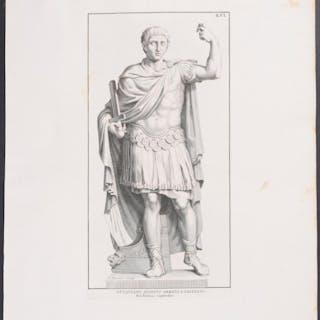 Statue - Ottaviano Augusto Armato Domenico de Rossi...
