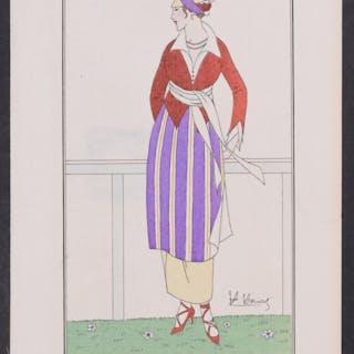 Fashionable Dress   Antique Print,Fashion,People