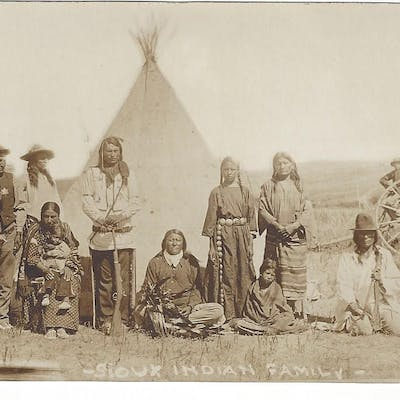 Sioux Postcards [Native Americans] Anderson, John Alvin Western Photography