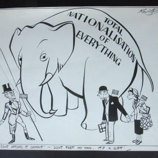 Original 1940's Pen and Ink Drawing