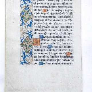 Einzelblatt aus einem lateinischen Stundenbuch