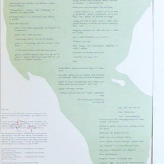 """Minneslista (till """"Dr. Schweitzers sista uppdrag""""). Fahlström, Öyvind Art/Konst"""