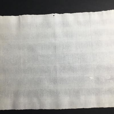 Ancient Antique 16th century handmade laid blank paper sheet, with inclusions