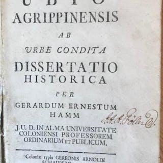 Respublica Ubio-Agrippinensis ab urbe condita dissertatio historica