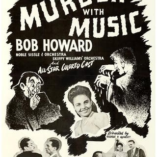 MURDER WITH MUSIC (1948) One sheet poster