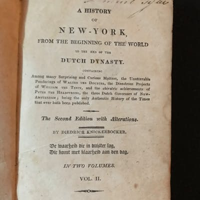 A History of New York From the Beginning of the World to...