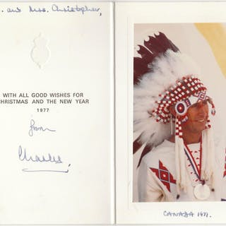 One of the most unusual signed Christmas Cards Charles, Prince (1948) Royalty