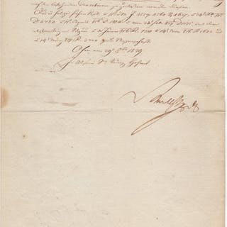Letter signed in absence of Archduke Ferdinand Karl of Austria Radetzky