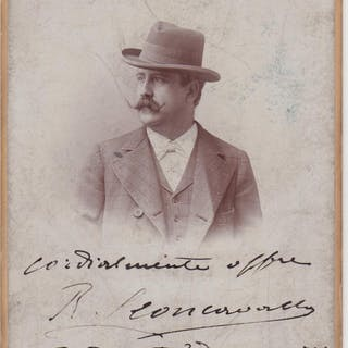 Signed cabinet-photo Leoncavallo, Ruggero (1857-1919) Music