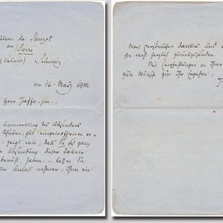 Excellent autographed letter signed Rilke, Rainer Maria (1875-1926) Literature