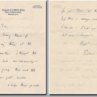Scarce autographed letter signed Kennedy, John F. (1917-1963) US Presidents