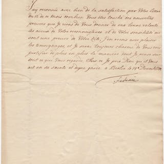 Letter signed Frederick II. - The Great (1712-1786) History
