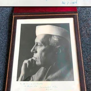 Signed Yousuf Karsh photograph finest exist Nehru
