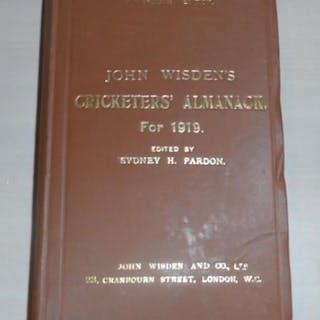 John Wisden's Cricketers' Almanack for 1919 - 1919 Original Hardback Wisden