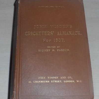 John Wisden's Cricketers' Almanack for 1907 - 1907 Original Hardback Wisden