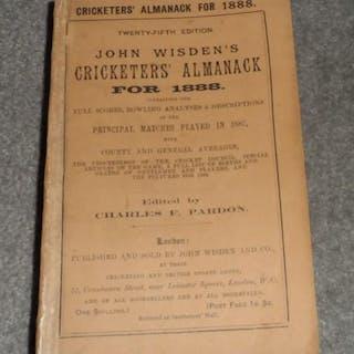 John Wisden's Cricketers' Almanack for 1888 - 1888 Original Paperback Wisden