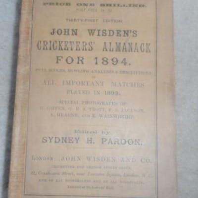 John Wisden's Cricketers' Almanack for 1894 - 1894...