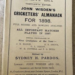 John Wisden's Cricketers' Almanack for 1898 - 1898...