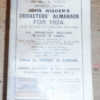 John Wisden's Cricketers' Almanack for 1924 - 1924...