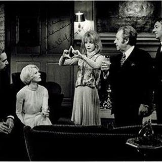 Photograph of Bulle Ogier and Cast in The Discreet Charm of the Bourgeoisie