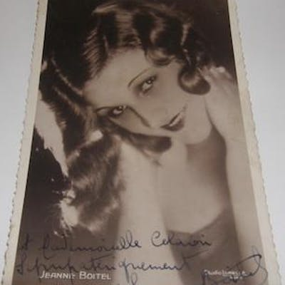 Jeanne Boitel Autographed Post Card