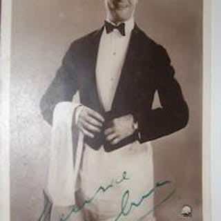 Maurice Chevalier autographed post card