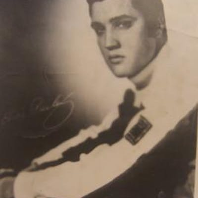 Reprint of Elvis Presley autographed photograph
